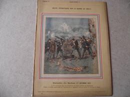 Protège Cahier, Fin XIX,  Bataille De SEDAN ,   Récits Patriotiques, Guerre 70/71, - Protège-cahiers