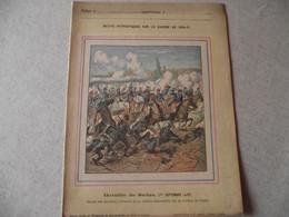 Protège Cahier, Fin XIX,  Bataille De SEDAN , N°2  Récits Patriotiques, Guerre 70/71, Charge Des Chasseurs D'Afrique - Protège-cahiers