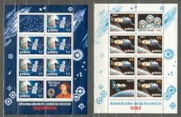 POLAND MNH ** Bloc 59 Et Bloc 60 Conquete Spatiale NICOLAS COPERNIC Espace - Blocks & Sheetlets & Panes