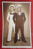 "Kingdom Yugoslavia - Royal Navy Sailor, SUBMARINER On Submarine ""SMELI""  Real Photo Postcard - Jugoslavia"