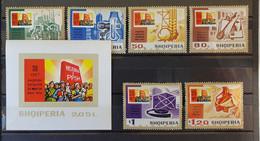 Albanien 1974, Mi 1738-46 + Block 54, MNH Postfrisch - Albania