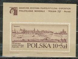 POLAND MNH ** Bloc 61 Exposition à POZNAN NICOLAS COPERNIC - Blocks & Sheetlets & Panes