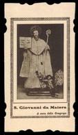 San Giovanni Da Matera / Fondò Nell'Abbazia Di Pulsano La Congregazione Dei Pulsanesi  (inizio Novecento) - Riproduzione - Devotion Images