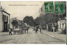 SAINT-LOUP-sur-SEMOUSE (70) Avenue De La Gare Ed. David-Dupont, Envoi 1909 (diligence) - Andere Gemeenten