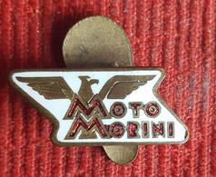 Motorbikes - Motorcycle  MOTO MORINI -  Enamel Buttonhole Badge, Pin - Motorbikes