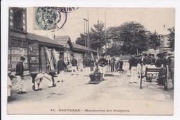 CP 92 NANTERRE Manoeuvres Des Pompiers - Nanterre