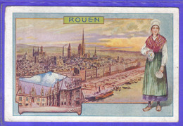Carte Postale 76. Rouen  Publicité Ets Bergougnan  Pneu Bandage à Clermont-Ferrand - Rouen