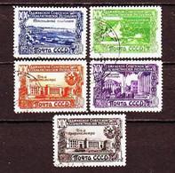 USSR 1949. Tajik SSR. 5 Stamps.  Mi. Nr. 1419-23. - 1923-1991 URSS