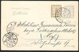 BAYERN Ganzsache / Postal Stationery Michel P 74/03 Von MUENCHEN 19 Nach HOF A.S.2. - Stamped Stationery