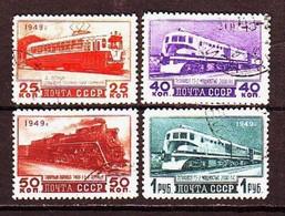 USSR 1949. Rail Transport. 4 Stamps.  Mi. Nr. 1414-17. - 1923-1991 URSS