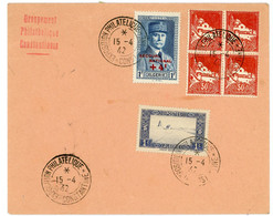 ALGERIE ENV 1942 CONSTANTINE EXPOSITION PHILATELIQUE - Covers & Documents