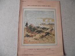 Protège Cahier, Fin XIX,  Combat De SPICKEREN ,N°2   Récits Patriotiques, Guerre 70/71, - Protège-cahiers