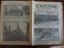 Journal Excelsior 30 Octobre 1914 1445 Cavaliers Anglais Batailles Nord Roi Carol Bucarest Soissons Arras  WW1 Guerre - Autres