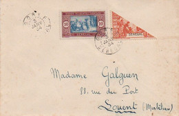 V9CptC Courrier Obliteration Timbre Cachet 1934 Affranchissement Avec 1/2 Timbre Du Sénégal - Non Classés