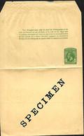Trinidad. & Tobago.  Bande Journal E1 (Higgins)  SPECIMEN - Trinidad & Tobago (...-1961)