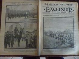 Journal Excelsior 25 Octobre 1914 1440 Avion Russe Tranchées Artillerie Franchaise Dragon Français Fantassin  WW1 Guerre - Autres