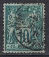 RARE TIMBRE SAGE N° 76 OBLITÉRÉ (VERSO SANS DÉFAUT) Avec SUPERBE CENTRAGE OBLITÉRATION CAD 1876 SEINE INFERIEURE - 1876-1898 Sage (Type II)