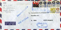 Mexico -  Registered Cover To Ypres, Belgium - México