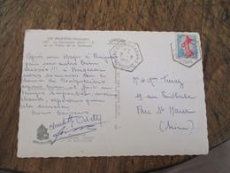 Chateau Des Milandes Recette Auxiliaire Cachet Hexagonal - Marcophilie (Lettres)