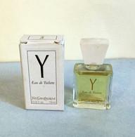 """Miniature """" Y  """"de YVES ST LAURENT  Eau De Toilette 7,5 Ml Dans Sa Boite (71-Lo) - Modern Miniatures (from 1961)"""