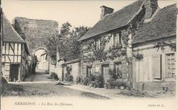 D60 - GERBEROY - LA RUE DU CHÂTEAU - Chien Devant La Porte à Gauche - Autres Communes
