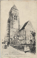 D60 - ETAVIGNY - L'EGLISE AVANT LE BOMBARDEMENT DE SEPTEMBRE 1914-Couple-Nombreux Enfants- Brouette-Chien - Autres Communes