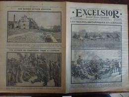 Journal Excelsior 27 Octobre 1914 1442 Troupes Britanniques Entente Cordiale Exode Anvers Cuisine  WW1 Guerre - Autres