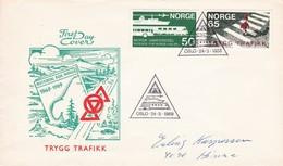 Norway FDC 24-3-1969 Traffic Train - FDC