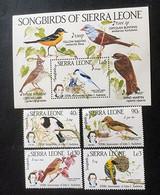 SIERRA LEONE - Songbirds, 200e Anniversaire De John AUDUBON - Bloc + Timbres Mi 799-802 - 1985 - Sierra Leone (1961-...)