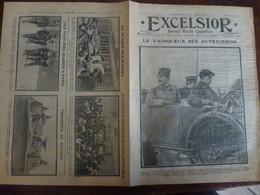 Journal Excelsior 24 Août 1914 1378 Vainqueur Des Autrichiens Pierre De Serbie Alexandre Resistance Grèce  WW1 Guerre - Autres