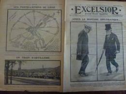 Journal Excelsior 15 Août 1914 1369 Rupture Diplomatique Cambon Lichnowsky Train Fortifications Liège WW1 Guerre - Autres