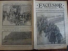 Journal Excelsior 31 Octobre 1914 1446 Officiers Allemands Reine Amélie Voiture Postale Uhlans WW1 Guerre - Autres
