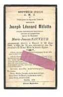DD 222. JOSEPH MELOTTE - Ancien Conseiller Provincial Et Bourgmestre - +EMAEL 1906  (79 Ans) - Devotion Images