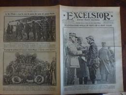 Journal Excelsior 9 Fevrier 1917 2278 General Porro Jardin Des Plantes Kut El Amara Amiral Magon Aoste   WW1 Guerre - Autres