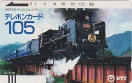 TC Ancienne JAPON / NTT 230-010 ** 105 U ** TBE - STEAM TRAIN LOCOMOTIVE - JAPAN Front Bar Phonecard - Balken TK - Treni