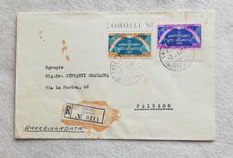"Busta Di Lettera Raccomandata Da Trieste Per Palermo 1953 ""FDC"" - 7. Trieste"
