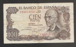 Spagna - Banconota Circolata  Da 100 Pesetas P-152a.3 - 1970 #18 - [ 3] 1936-1975: Regime Van Franco