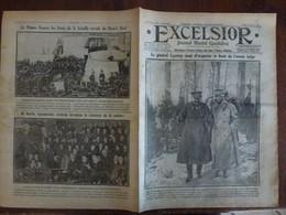Journal Excelsior 8 Fevrier 1917 2277 Général Rucquoy Nivelle Rouen Bataille E Horn's Reef Chamberlain  WW1 Guerre - Autres