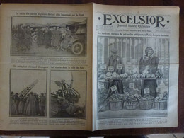 Journal Excelsior 10 Fevrier 1917 2279 Halles Centrales Paris Rue Sambre Et Meuse Aéroplane  WW1 Guerre - Autres
