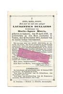 DD 223. LAURENTIUS DULLAERS  Wed. M. Moers - °OPHEERS 1789 / +VEULEN 1874 - Devotion Images