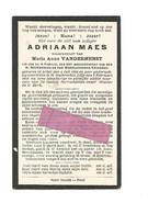 DD 224. ADRIAAN MAES  Wed. M. Vanderhenst - °ACHEL 1826 / +ST-HUIBRECHTS LILLE 1914 - Devotion Images