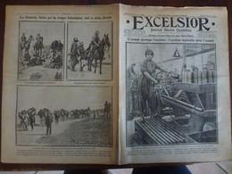 Journal Excelsior 12 Fevrier 1917 2281 Usine De Guerre Education  Physique Football Senoussis WW1 Guerre - Autres