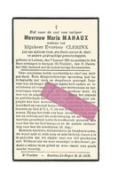 DD 225. MARIA MAHAUX  Wed. E. Clerinx - °LATINNE 1861 / +KERKOM (ST-TRUIDEN) 1943 - Devotion Images