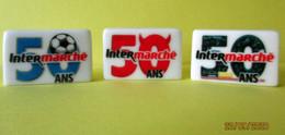 Fèves Brillantes X 3-  50 Ans Anniversaire Intermarché - Autres