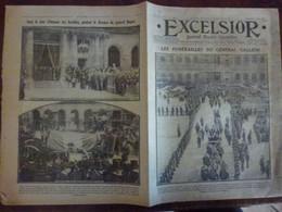 Journal Excelsior 2 Juin 1916 Funérailles Général Galliéni Hôtel De Ville De Paris Général Roques WW1 Guerre - Autres