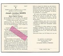 DD 226. JOSEPH SOORS Wed. A. Vranken - °PEER 1868 En Aldaar + 1957 - Devotion Images