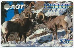 CANADA - KANADA AGT HELLO! 20$ WILDLIFE ROCKY MOUNTAIN SHEEP PRE-PAID PHONECARD TELECARTE PERFECT MINT - Canada
