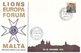 LIONS INTERNATIONAL EUROPA 17 NOV 1976 FORUM MALTA - Rotary Club