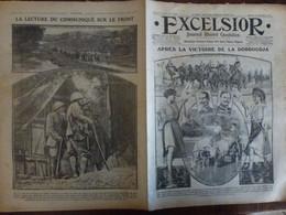 Journal Excelsior 23 Septembre 1916 2139 Victoire Dobroudja Aviateurs Avions Aviation Somme WW1 Guerre - Autres