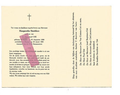 DD 228. MARGARETHA SMOLDERS  Wed. J. USE - °TIENEN 1888 / +BRUSSEL 1961 - Devotion Images